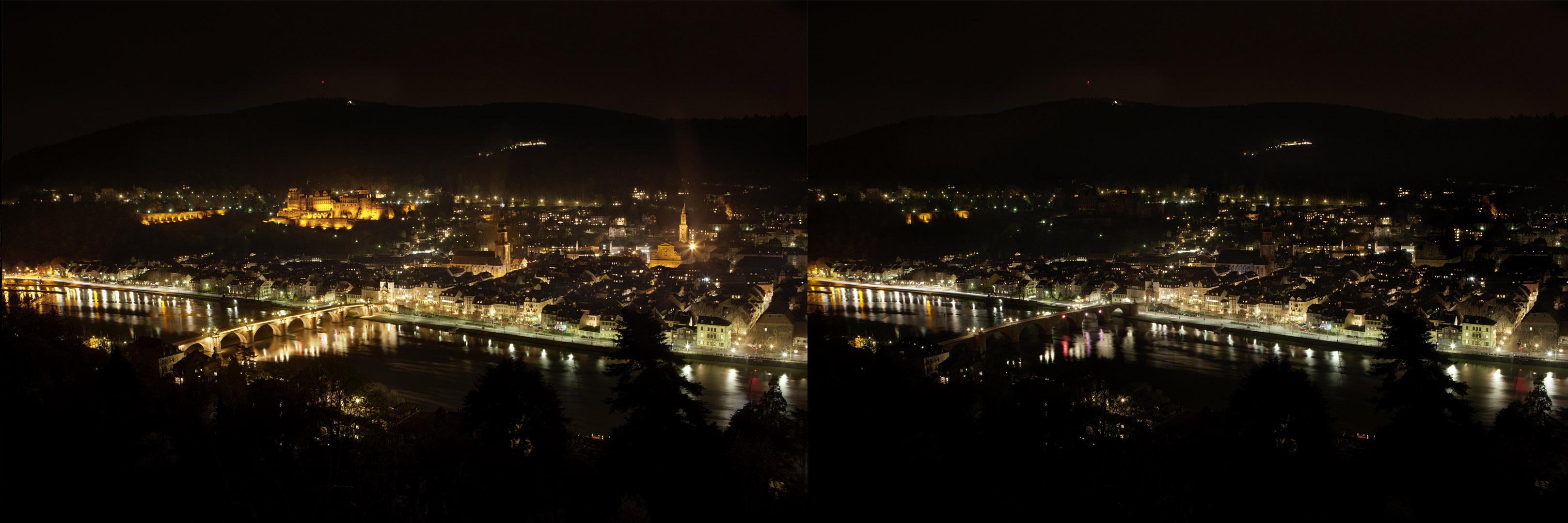 EARTH-HOUR 2011: Auch Heidelberg schaltet den Strom für eine Stunde ab. (Foto: Buck)